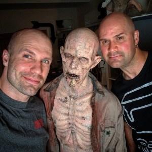 Richard Redlefsen & Sidney Cumbie apply RBFX prosthetics on Gordon Tarplay