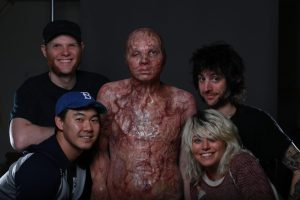 Joe, Eric, Tim & Annie with Will Thorton in makeup