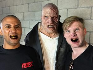 Lasander Washington & Ian Cromer's makeup on Sidney Cumbie using RBFX prosthetics