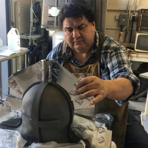 IMG 3567 300x300 - Clay Martinez working on a collapsible core for RBFX bald cap