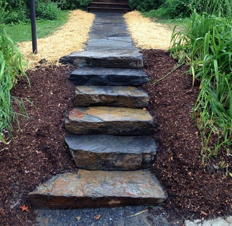 Stone Steps Pavers And Walkway Stone Bristol Vermont   Best Stone For Outdoor Steps   Concrete Steps   Garden   Stair Tread   Limestone   Natural Stone