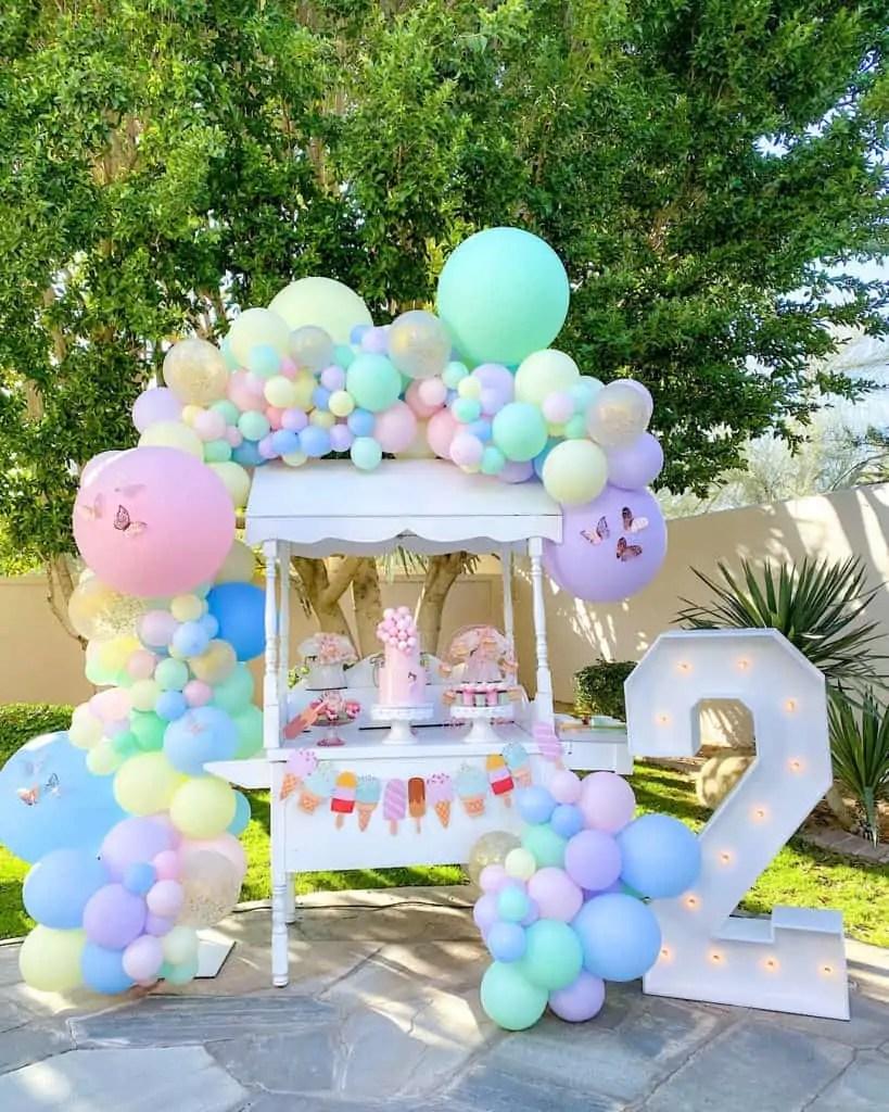 Blush Pink And Pastel Green Ice Cream Birthday Party Rb Italia Blog
