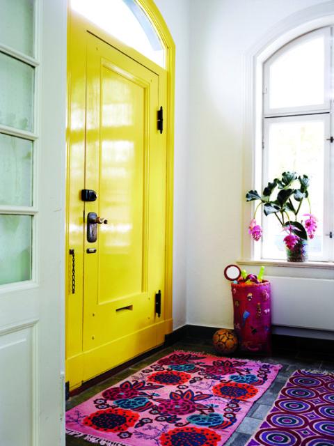 Awesome yellow interior door via Redbook