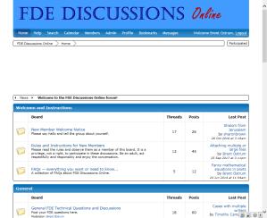 FDE Discussions screenshot