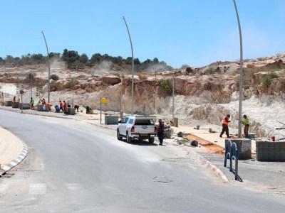 מדרכה חדשה ברחוב אליהו הנביא