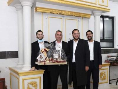 ר' אלחנן ורטהיים וחברים מהקהילה