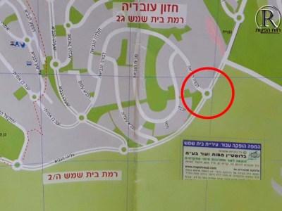 לפי המפה אמור להיות כאן כיכר