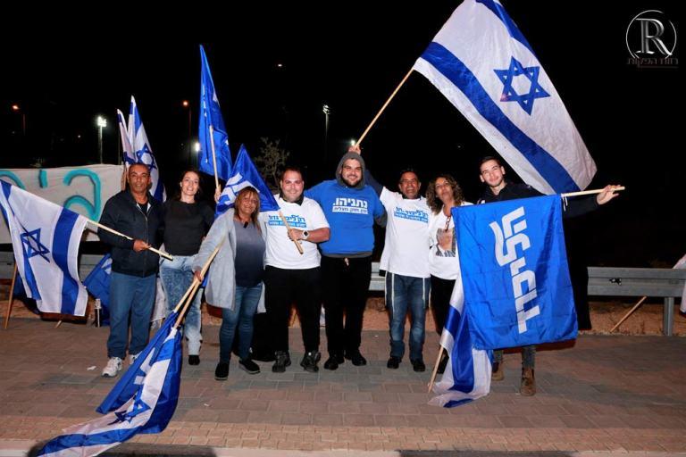 פעילי הליכוד. דצמבר 2019, במרכז ישראל אבוקסיס,