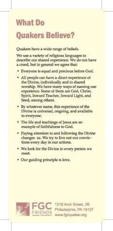 Quaker Beliefs