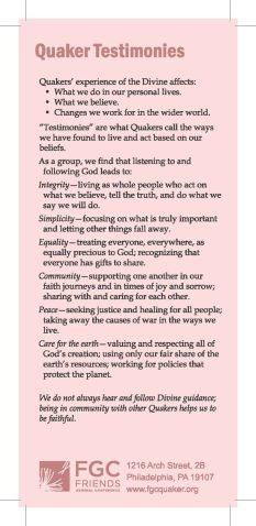 Quaker Testimonies
