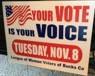 League of Women Voters Yard Sign
