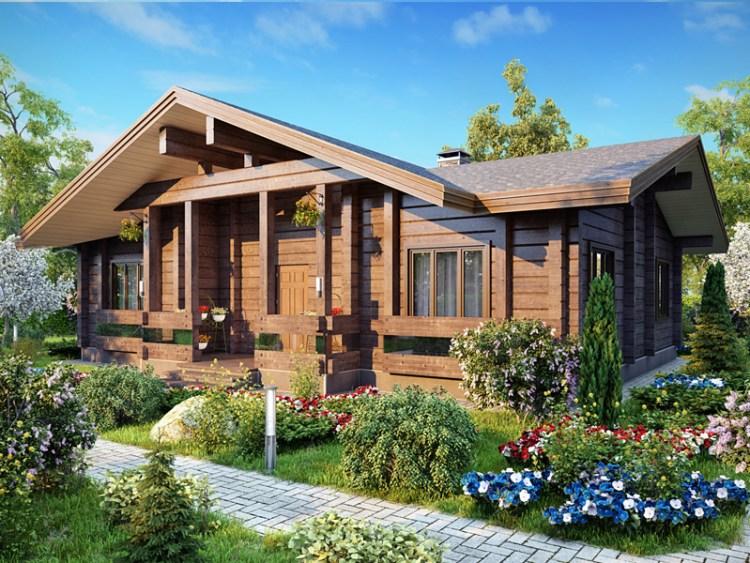 house made of laminated veneer lumber photo