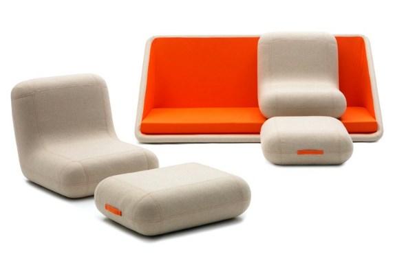 бескаркасный диван от Matali Crasset