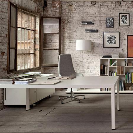 кирпич в интерьере офиса стиль лофт