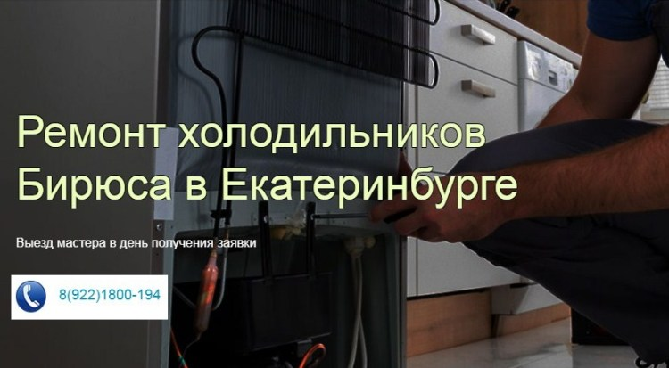 ремонт холодильников Бирюса ЕКАТЕРИНБУРГ фото