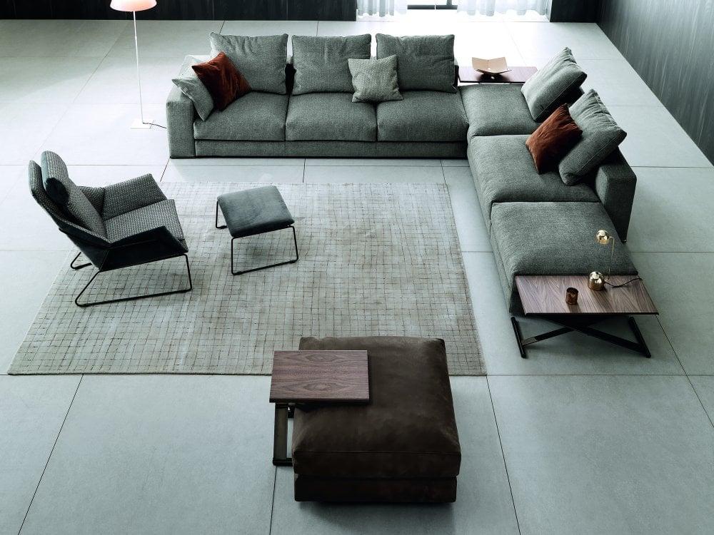 saba italia ananta class l shaped sofa with fixed elements composition