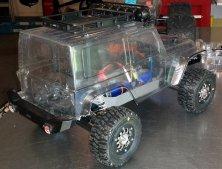 Unlackierte Jeep Karosserie für den Stampede