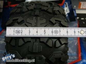 Reifenbreite: 80mm ohne Last