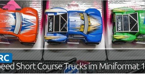 Highspeed Short Course Trucks im Miniformat 1:32 von XciteRC