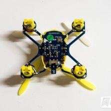 Unterseite des Q4 Quadcopters - Platine mit LiPo Akku.