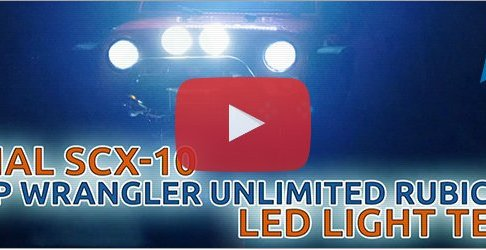 Junior's - Axial SCX10 Jeep Wrangler Unlimited Rubicon - LED Licht Test & Scale Zubehör
