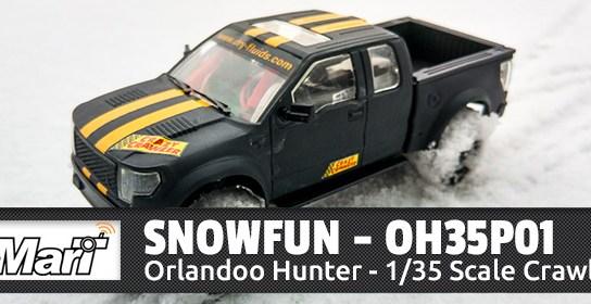 Spaß im Schnee mit dem Orlandoo Hunter OH35P01 - Mini Scale Crawler 1/35 1