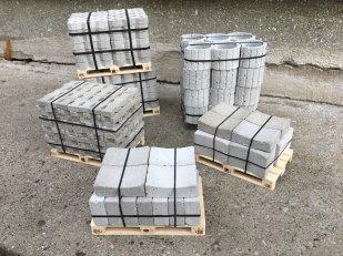 Beton- und Pflastersteine auf Euro-Paletten
