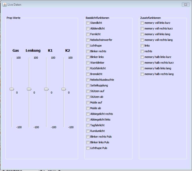 Control Panel Live Daten Log