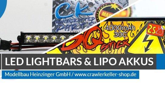 Crawlerkeller - SMD LED Lightbars & BBQ Lipo Akkus 1