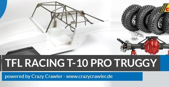 TFL Racing T-10 pro Truggy - Scale Crawler Kit powered by Crazy Crawler