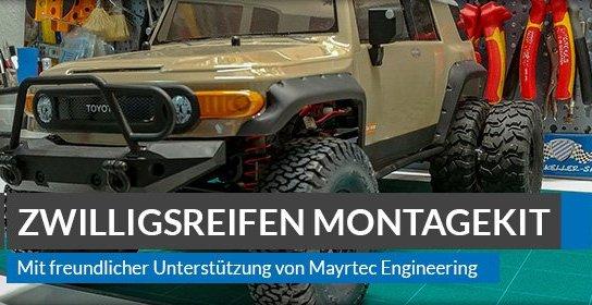Beitragsbild: Zwillingsreifen für den Modellbau – Montageset für Scale Crawler und Trucks