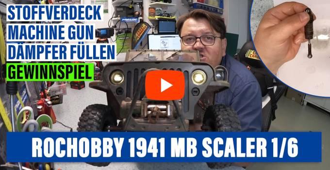 💥 Roc Hobby 1941 MB Scaler 1/6 | 🎁 Unboxing Softtop Verdeck & Machine Gun | 🔧 Stockstoßdämpfer verbessern