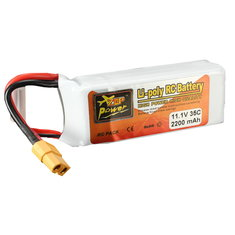 Batterie 11.1V 2200mAh 3S 35C Zop Power broche XT60
