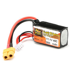 Batterie 11.1V 500mAh 45C Zop Power broche XT60