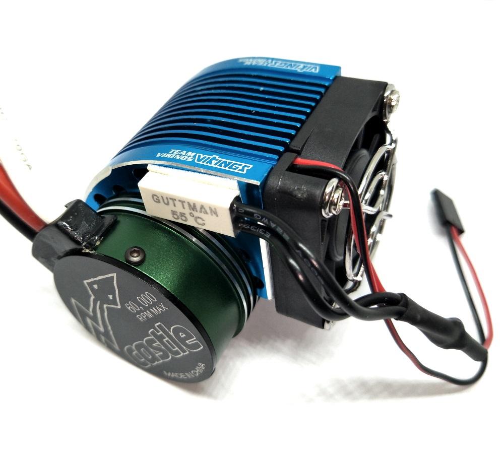 1 8 Motor Heat Sink W Temp Sensor Cooling Fan For 1 8