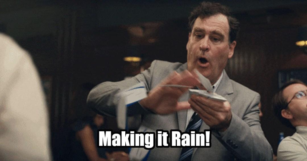 making it rain money cash