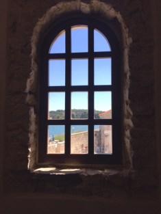 View from inside the Porec Basillica