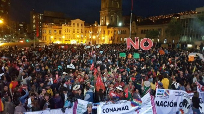 Resultado de imagen para bolivia dijo no