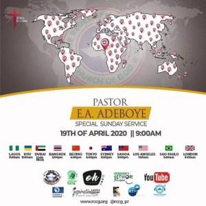 RCCG 19TH APRIL 2020 SUNDAY SERVICE