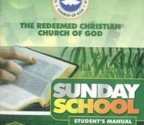 RCCG SUNDAY SCHOOL STUDENT'S MANUAL SUNDAY SEPTEMBER 2021