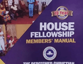rccg house fellowship member's manual 2020