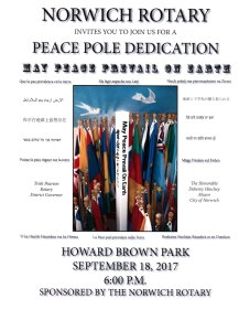 Peace Pole Dedication Flyer