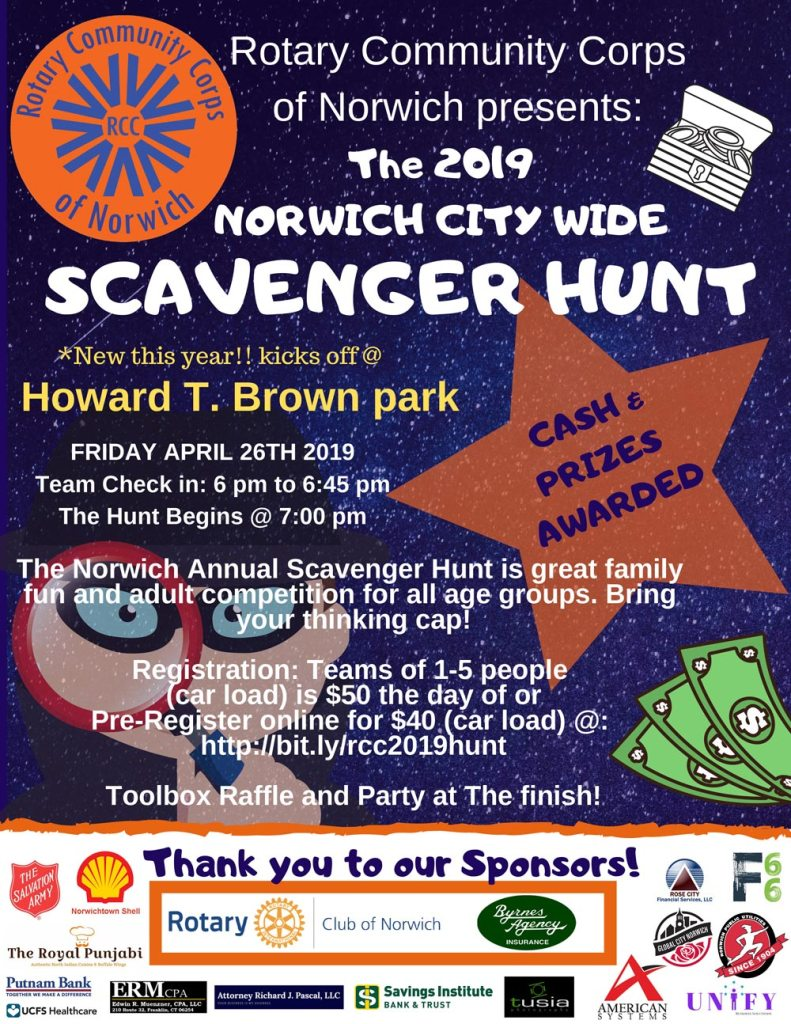 RCC Scavenger Hunt flyer
