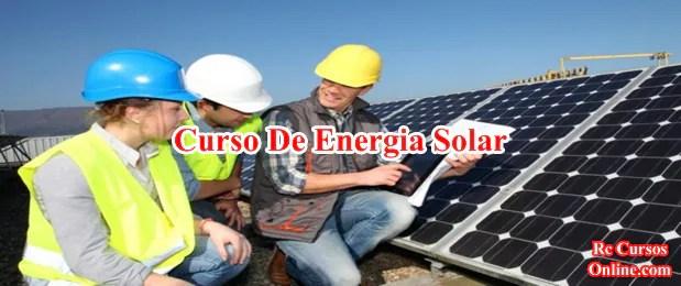 Curso técnico instalador de energia solar fotovoltaica