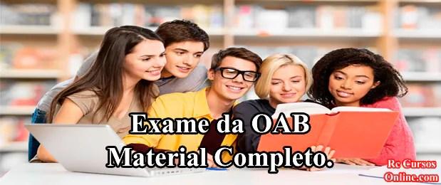 Curso Material Completo para o Exame da OAB.