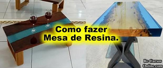 Curso de mesas resinadas aprenda agora como fazer mesa de resina