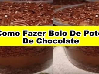 227 como fazer bolo de pote de chocolate - Como Fazer Bolo De Pote De Chocolate (Receita Completa).
