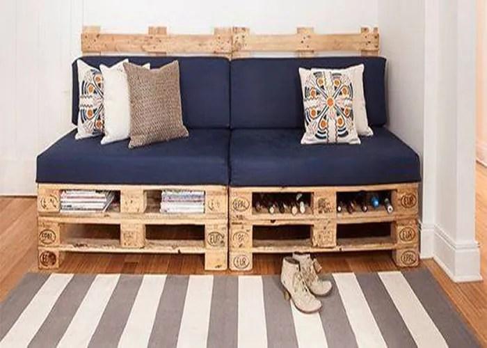 7 imagem sofa de pallet - Sofá De Pallet Para Sala Móveis Feito De Paletes (Imagens De Inspiração).
