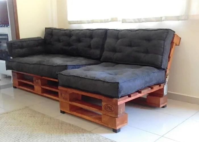9 imagem sofa feito de pallets - Sofá De Pallet Para Sala Móveis Feito De Paletes (Imagens De Inspiração).
