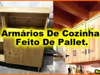 armario de cozinha feito de pallet - Armário De Cozinha De Pallet:  Inspire-se Em Ideias De Móveis De Paletes.